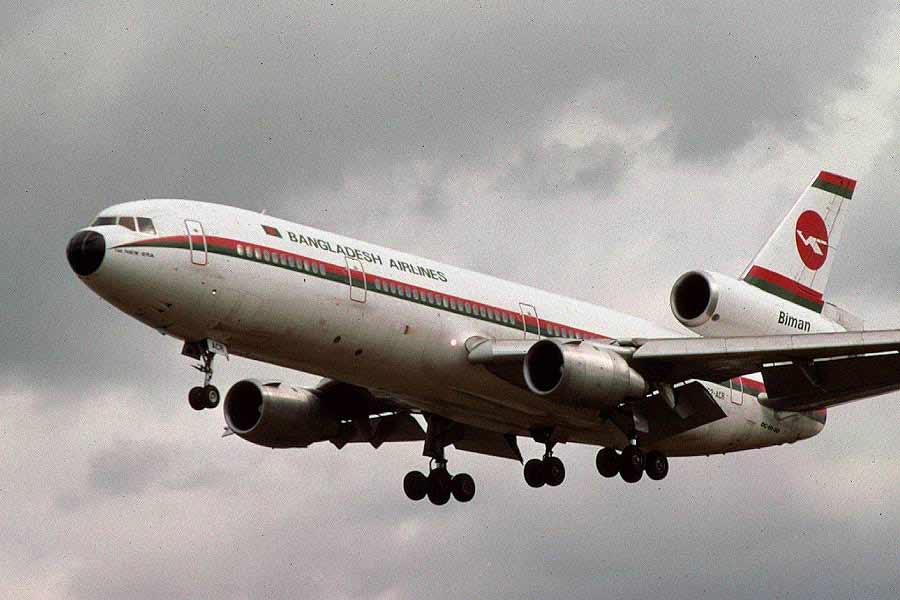 Biman DC 10 aircraft