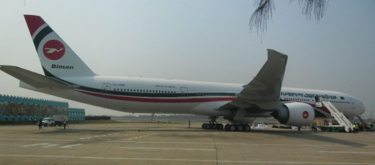 Boeing 777 of Biman Bangladesh Airlines