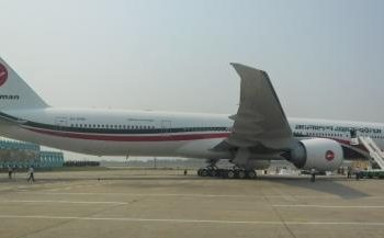 Boeing 777 of Biman