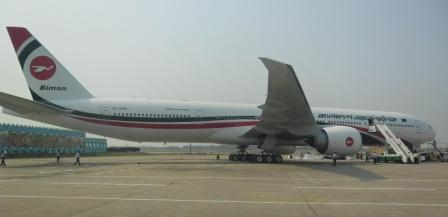 Boeing 777 of Biman