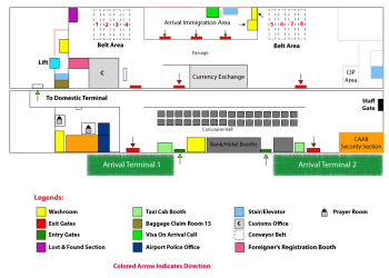 Arrival terminal map of HSIA