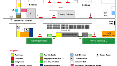 Photo of Arrival Terminal Map of Hazrat Shahjalal International Airport