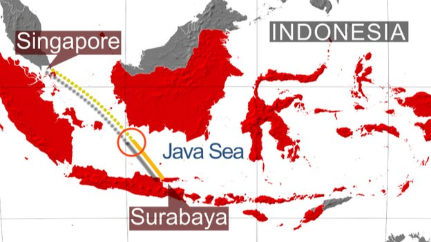 airasia flight missing area