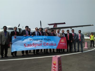Regent flies to Saidpur