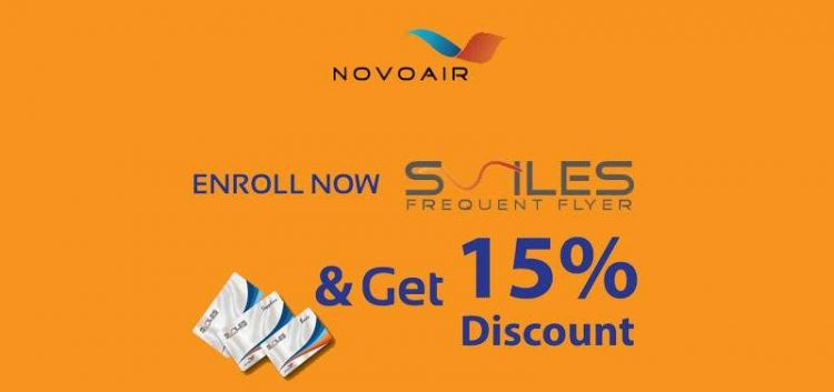 novoair discount march 2019