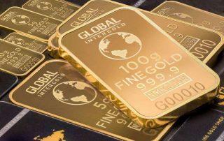 gold bars close